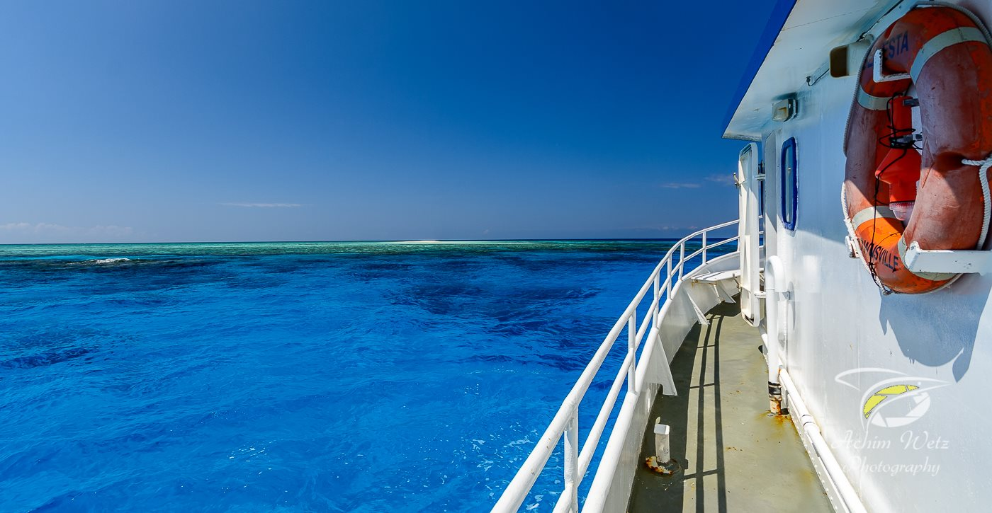 picture of wheeler reef taken whilst standing on the port side of MV Seaesta