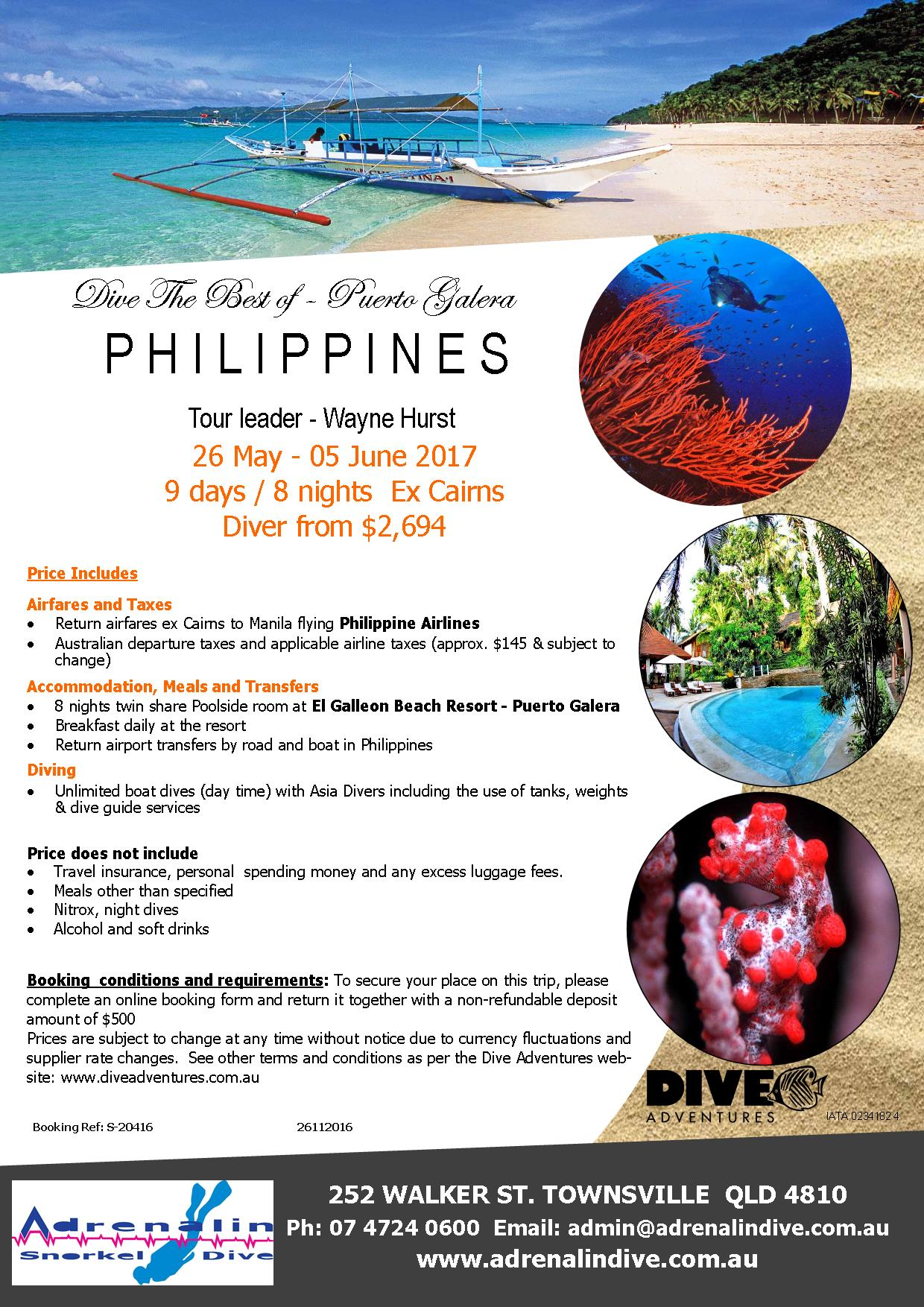 Philippines Puerto Galera Trip with Adrenalin Dive