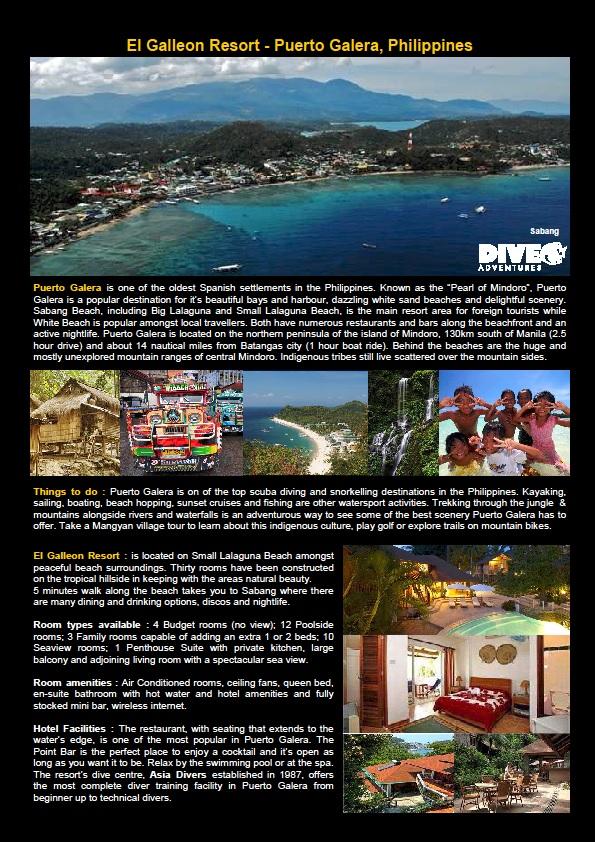 Puerto Galera - Philippines - Dive Trip Information 2017