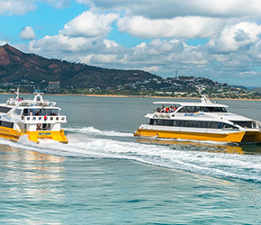 sealink ferries passing each other