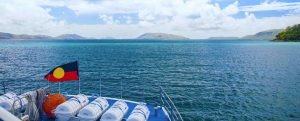 shot of the reef from sealink mv sea cat